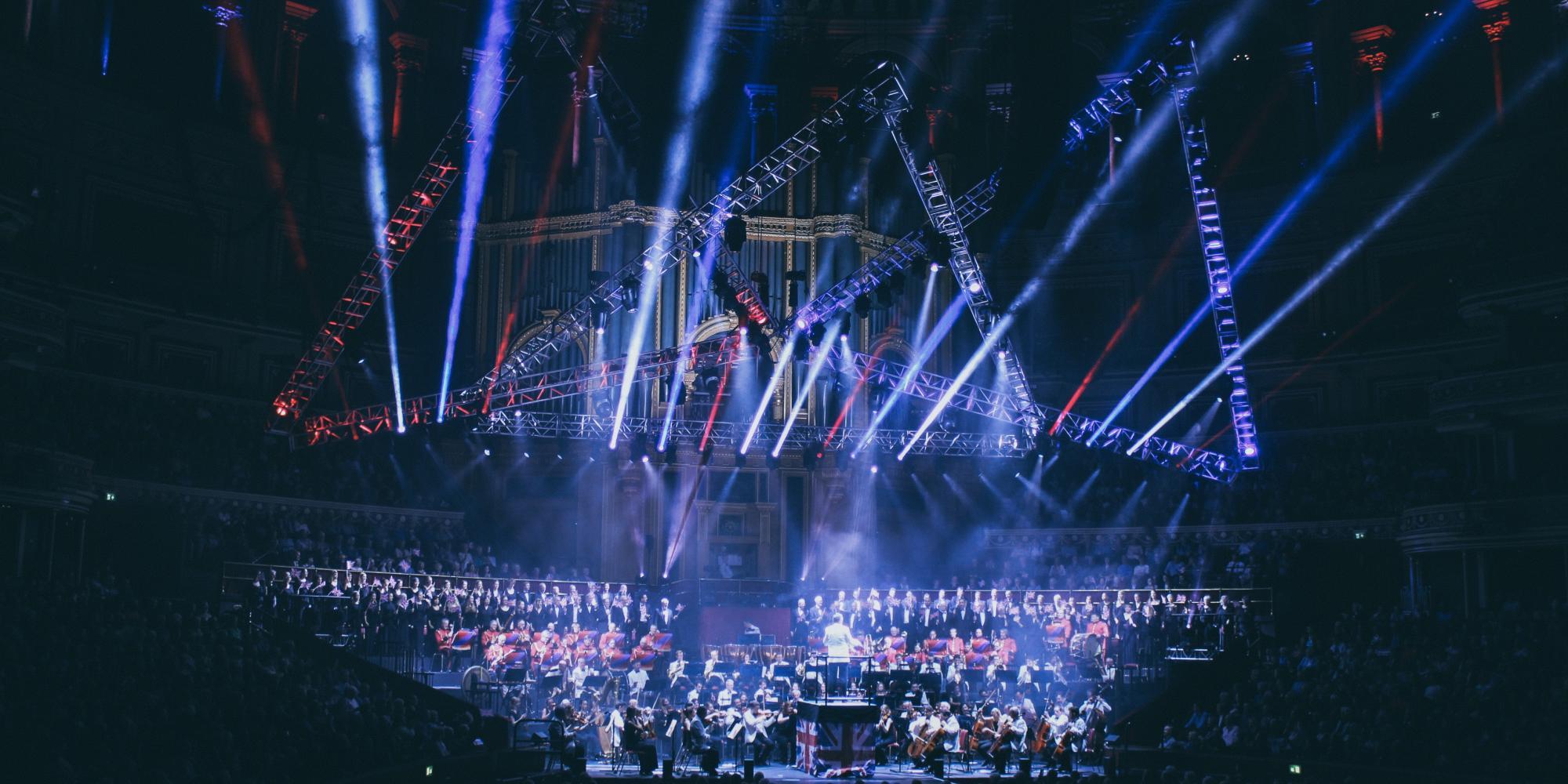 Big concert stage